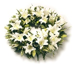 Wreath (Lillies) White and Green