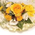 Wreath (Ribbon Edging ) Yellow and White