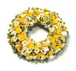 Wreath (Leaf Edging) Yellow and White
