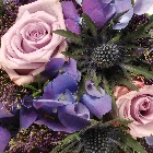 Wreath (Leaf Edging ) Purple and Lilac